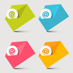 Envelope Email Vector Icons Set