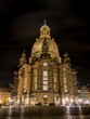 Leinwanddruck Bild - Dresdner Frauenkirche bei Nacht