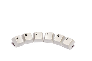 word from computer keypad buttons online