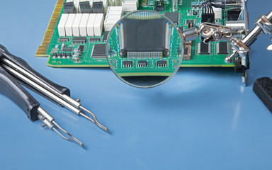 Circuit board with IC chips