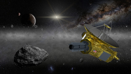 New Horizons space probe in the Kuiper belt