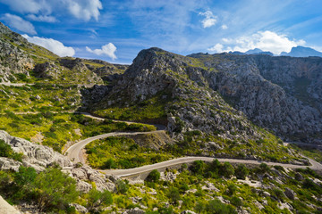 Beautiful view of Sa Calobra on Mallorca Island, Spain