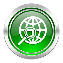 search icon, green button