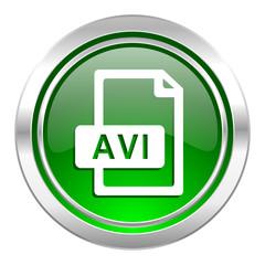 avi file icon, green button