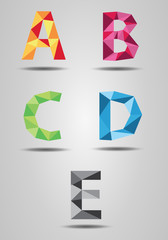 Colorful letters in the air
