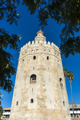 Gold Tower in Seville, southern Spain.