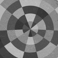 Vintage polar grid background in gray gradation