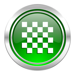 chess icon, green button