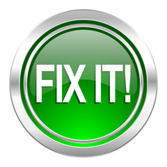 fix it icon, green button