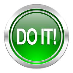 do it icon, green button