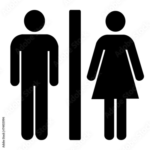 Zdjęcia na płótnie, fototapety, obrazy : toilets icon