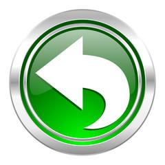 back icon, green button, arrow sign