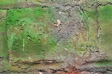 green vintage wall texture background
