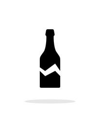Broken bottle simple icon on white background.