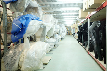 warehouse of spare parts for the car