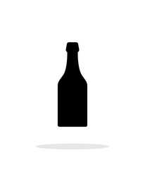 Beer bottle simple icon on white background.