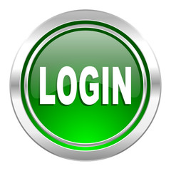 login icon, green button