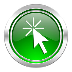 click here icon, green button
