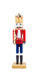 Isolated Nutcracker On Whtie Background