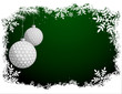 Golf Christmas Background - 74457322