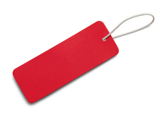 Long Red Tag