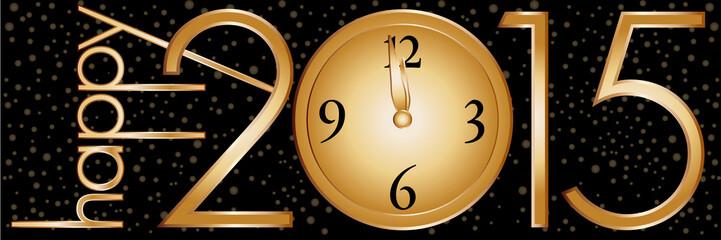 2015 New Year's Clock