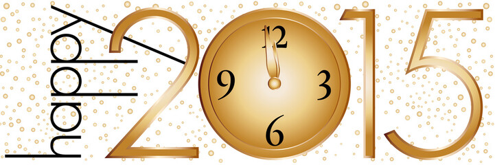Happy 2015 clock