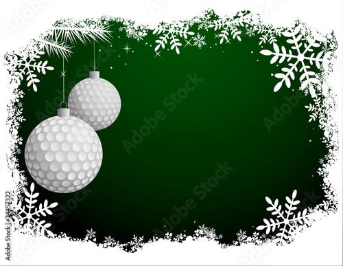 Fototapeta Golf Christmas Background