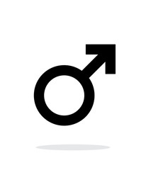Male icon on white background.