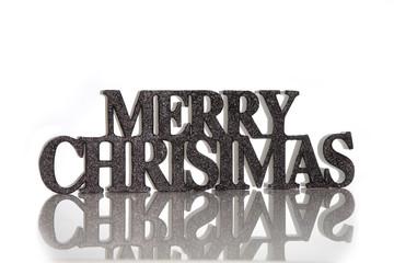 Frohe Weihnachten Schriftzug auf Englisch