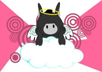 donkey baby cute angel cartoon background