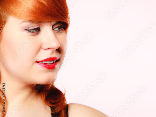 canvas print picture Portrait beautiful young redhaired woman
