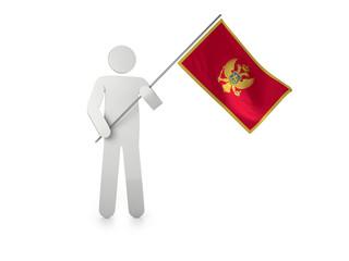 """Figur mit Fahne """"Montenegro"""""""