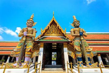 Giant Buddha in Wat Phra Kaeo, Temple of the Emerald Buddha in B