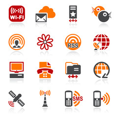 Communication icons. Color series.