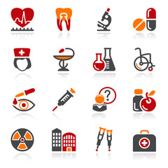 Medicine icons. Color series.