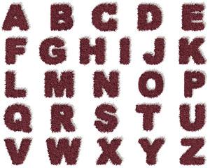 Alfabeto A-Z tappeto microfibra 3d, sfondo bianco