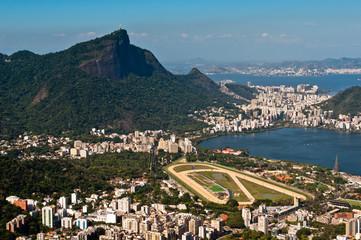 View of Corcovado Mountain and Rodrigo de Freitas Lake