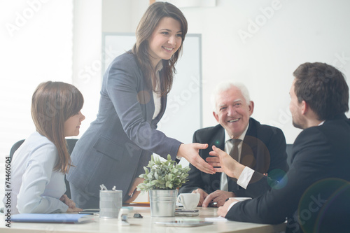 canvas print picture Businesspeople shaking hands