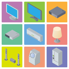 Home Appliances and Electronics illustration, vector