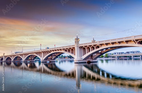 Plexiglas Brug City Skyline in Tempe
