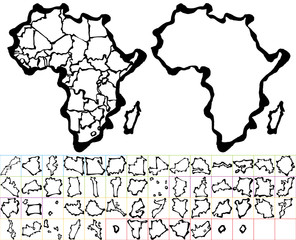 アフリカ 筆で書いた地図