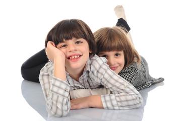 Happy children isolated