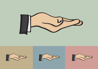 Receiving Hand Gesture Isolated on Different Background