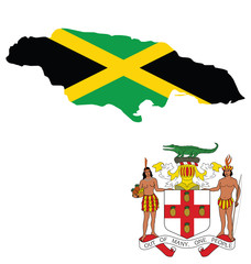 Flag and coat of arms of Jamaica