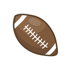 rugby ball or American football isolated illustration