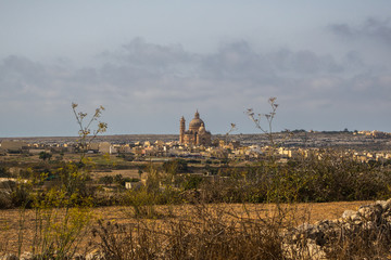 City view of a town on Gozo