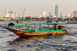 canvas print picture - Longtail boat in Bangkok