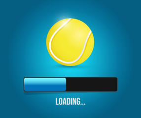 tennis loading bar illustration design