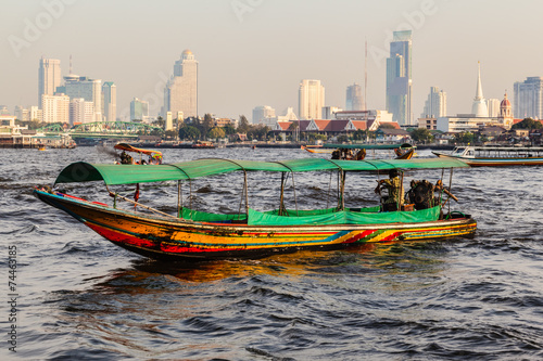 canvas print picture Longtail boat in Bangkok